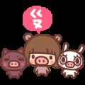 Free Kinoko & Labito, Year of the Pig! LINE sticker for WhatsApp