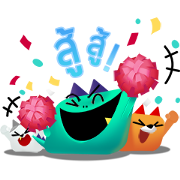 Kozy, Tabby & Ceela: Triple the Fun! Sticker for LINE & WhatsApp | ZIP: GIF & PNG