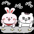 Free Kumaco × eheya rabbit LINE sticker for WhatsApp
