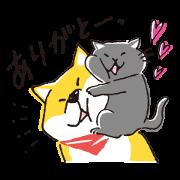 Free Kuroneko × Shibanban LINE sticker for WhatsApp