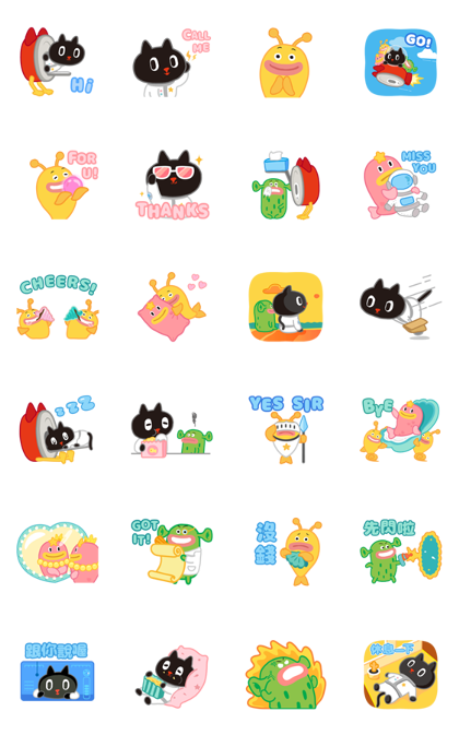 Kuroro - Space Explorer's Daily Life Line Sticker GIF & PNG Pack: Animated & Transparent No Background | WhatsApp Sticker