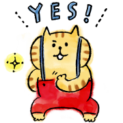 Free LINE NEWS × Lazy Nyansuke LINE sticker for WhatsApp