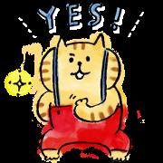 Free LINE NEWS × Lazy Nyansuke LINE sticker for WhatsApp