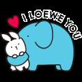 Free Loewe's Bunny & Elephant LINE sticker for WhatsApp