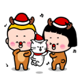 Free MiM's Heart-Stopping Winter Stickers LINE sticker for WhatsApp