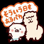 Free Mokmokchan × Uru-nyan LINE sticker for WhatsApp