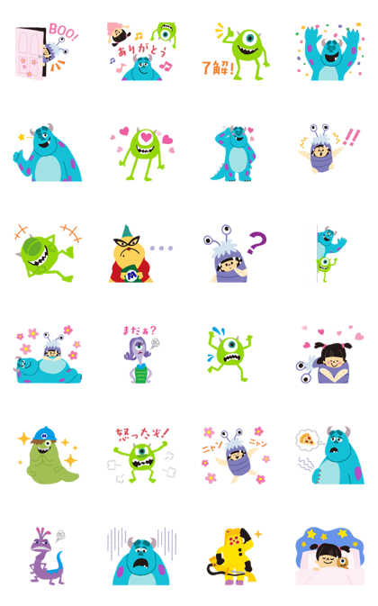 Download Monsters, Inc. (October Special) Sticker LINE and use on WhatsApp