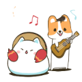 Free Mountain & Stoppy's Happy Life LINE sticker for WhatsApp