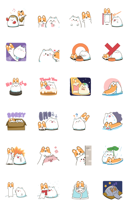Download Mountain & Stoppy's Happy Life Sticker LINE and use on WhatsApp