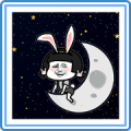 Mushrooman Moon Stickers Sticker for LINE & WhatsApp | ZIP: GIF & PNG