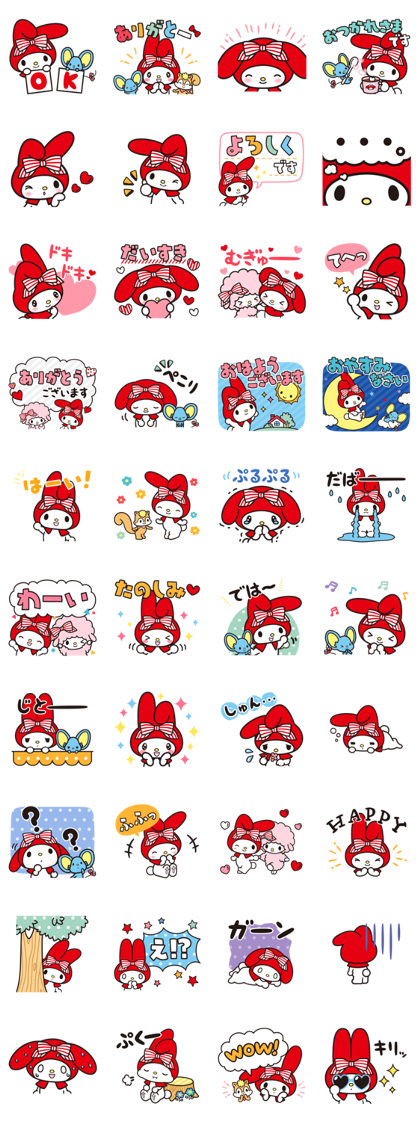 Download My Melody: Red Riding Hood Sticker LINE and use on WhatsApp