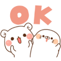 NEWS×Vulgar Bear×Stinging Tongue Seal Sticker for LINE & WhatsApp | ZIP: GIF & PNG