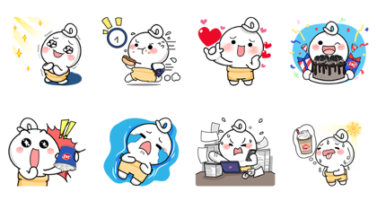 Nong Dee: Cute Line Sticker GIF & PNG Pack: Animated & Transparent No Background | WhatsApp Sticker