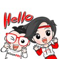 Free Nong Pru and Nong Den LINE sticker for WhatsApp