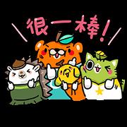 Free OB Design: Orange Bear LINE sticker for WhatsApp