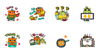 Download OB Design: Orange Bear Sticker LINE and use on WhatsApp