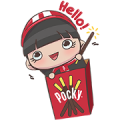 Free POCKY : Cheer Up Together LINE sticker for WhatsApp