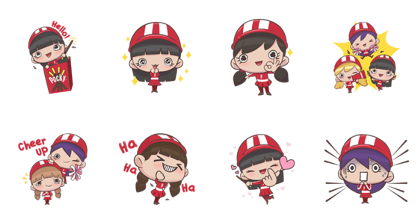 Download POCKY : Cheer Up Together Sticker LINE and use on WhatsApp