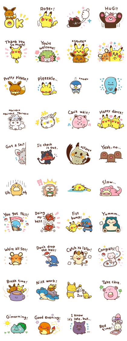 Download Pokémon Yurutto Sticker LINE and use on WhatsApp