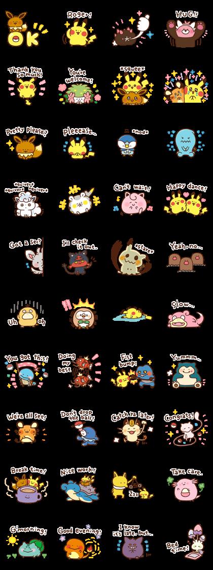 Download Pokémon Yurutto Sticker LINE and use on WhatsApp