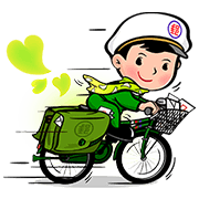 Postal Baby Doll Sticker for LINE & WhatsApp | ZIP: GIF & PNG