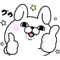 Free Rabbit 100% × Coca-Cola LINE sticker for WhatsApp
