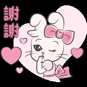 Free Ribbon Rabbit's Elegant Life LINE sticker for WhatsApp