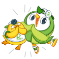 Robin Bird & friend:Let's have Fun Sticker for LINE & WhatsApp | ZIP: GIF & PNG