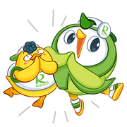 Free Robin Bird & friend:Let's have Fun LINE sticker for WhatsApp