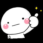 Free Shiromaru × Finess LINE sticker for WhatsApp