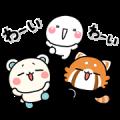 Free Shiromaru × Shirotasan & Resamaru LINE sticker for WhatsApp