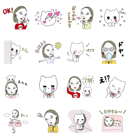 Download Stickers by MIU MIU Sticker LINE and use on WhatsApp