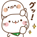 Free Stinging Tongue Seal × Bellnya LINE sticker for WhatsApp