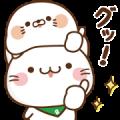 Free Stinging Tongue Seal × Bellnya LINE sticker for WhatsApp
