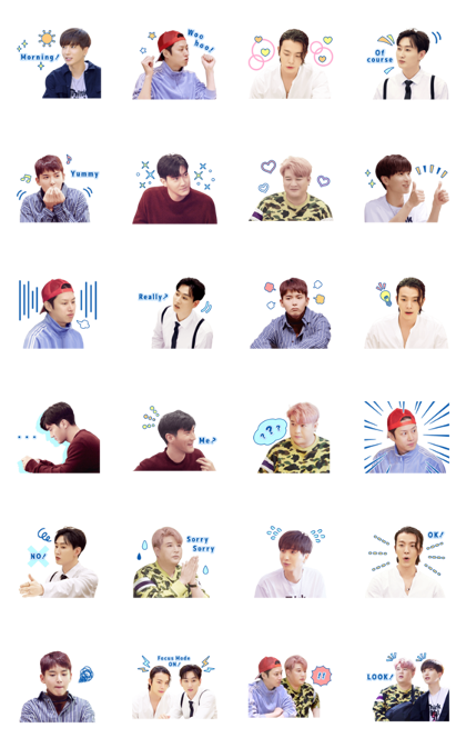 Super Junior in SJ Returns 2 Line Sticker GIF & PNG Pack: Animated & Transparent No Background | WhatsApp Sticker