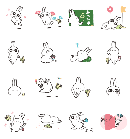 Usagitan Returns Line Sticker GIF & PNG Pack: Animated & Transparent No Background | WhatsApp Sticker