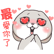 Very Miss Rabbit Child at Heart Sticker for LINE & WhatsApp | ZIP: GIF & PNG