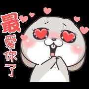 Free Very Miss Rabbit Child at Heart LINE sticker for WhatsApp