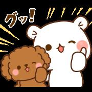 Free Vulgar Bear & Stinging Seal × Wancl LINE sticker for WhatsApp
