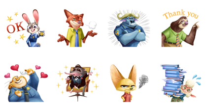 Download Zootopia (Special Event) Sticker LINE and use on WhatsApp
