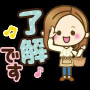 beni orange × LINE Shopping Sticker for LINE & WhatsApp   ZIP: GIF & PNG