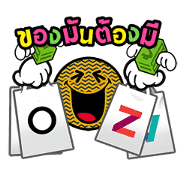 central Life × SmileyWorld Sticker for LINE & WhatsApp | ZIP: GIF & PNG