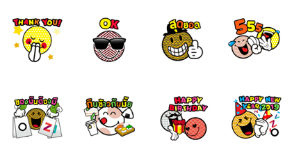 central Life × SmileyWorld Line Sticker GIF & PNG Pack: Animated & Transparent No Background | WhatsApp Sticker