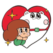 Free A Friendship of Peep-Chan × Mamuang LINE sticker for WhatsApp