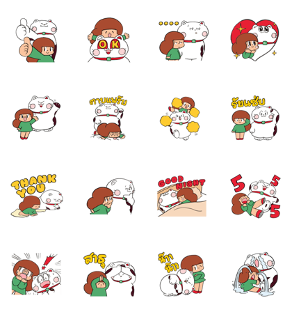 Download A Friendship of Peep-Chan × Mamuang Sticker LINE and use on WhatsApp