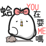 Black and White Chicken at Work Sticker for LINE & WhatsApp   ZIP: GIF & PNG