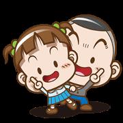 Free Cocoa & Onigiri Boy LINE sticker for WhatsApp