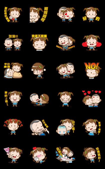 Download Cocoa & Onigiri Boy Sticker LINE and use on WhatsApp