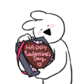Free Extremely Rabbit Animated Valentine LINE sticker for WhatsApp