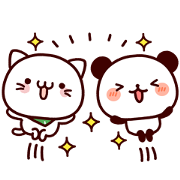 Free Feeling Panda × Bellnya LINE sticker for WhatsApp